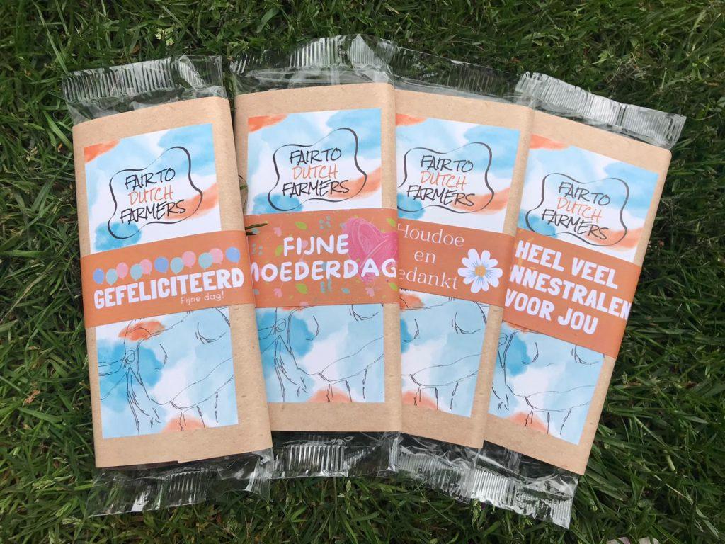 Fair to Dutch Farmers; gepersonaliseerde reep; chocolade cadeau
